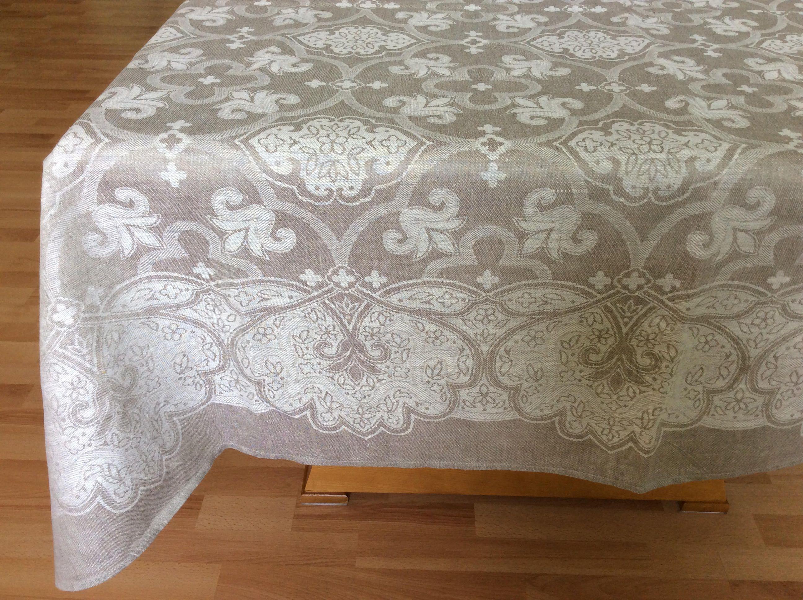 Extra Long Tablecloth Custom Wedding Rustic Rectangle Table Cloth Jacquard Linen