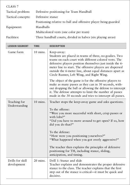Lesson Plan Examples Physical Education Lesson Plan Template 4th