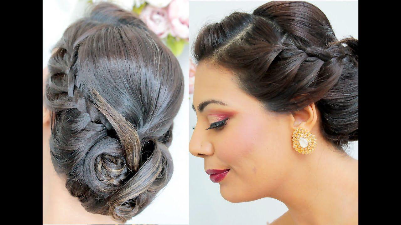 step by step elegant hairstyle tutorial #braided #updo