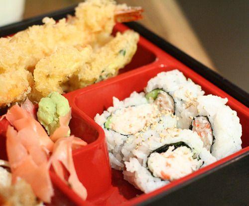Japanese Bento Box with California Roll