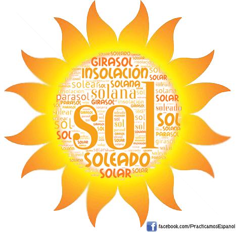 Nube de palabras del #sol   Más materiales en www.profedeele.es