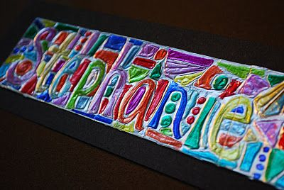 Make It A Wonderful Life Foil And Sharpie Name Drawing Name Drawings School Art Projects Sharpie Art