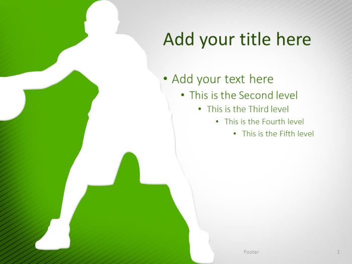 Basketball Powerpoint Template Green  Presentationgo  Template