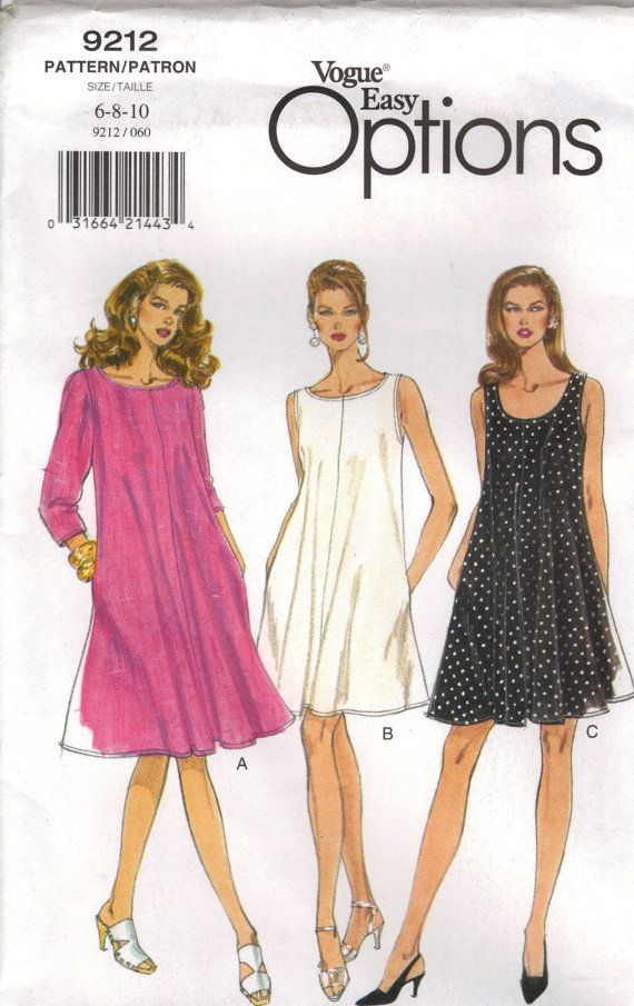 Vogue Sewing Pattern 9212 Misses\' Dress 610 by chails01 on Etsy ...