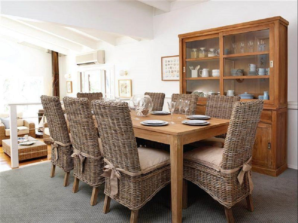 217 Best Dining Area Decorating Ideas Images On Pinterest  Dining Pleasing Indoor Wicker Dining Room Sets Decorating Design