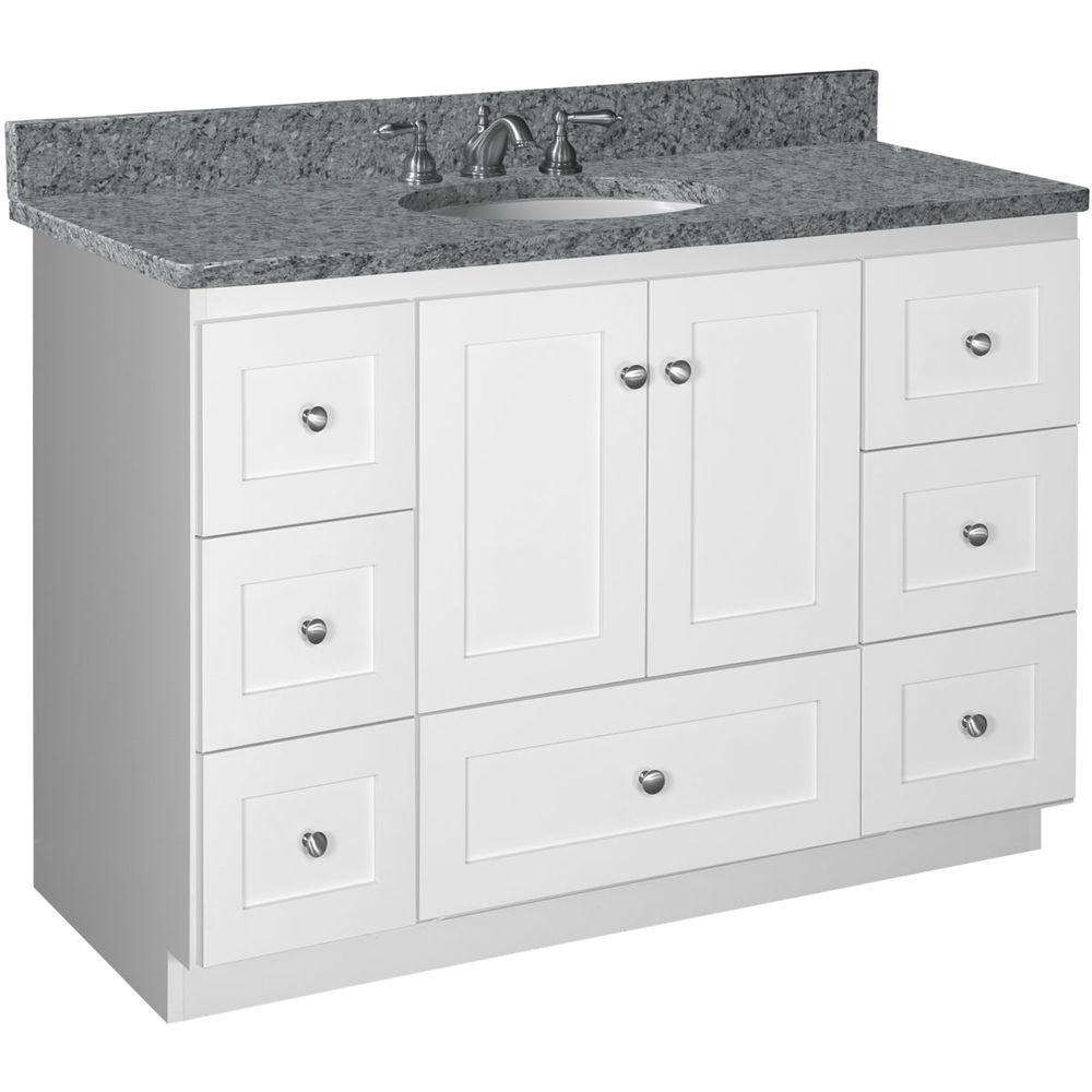 Simplicity By Strasser Shaker 48 In W X 21 In D X 34 5 In H Vanity Cabinet Only In Satin White 01 116 2 The Home Depot In 2021 Vanity Cabinet Bathroom Vanity Base Bathroom Vanities Without Tops