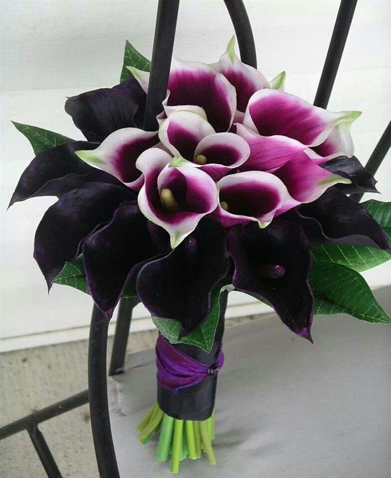 Black And Purple Wedding Ideas: Black And Purple Wedding Bouquet