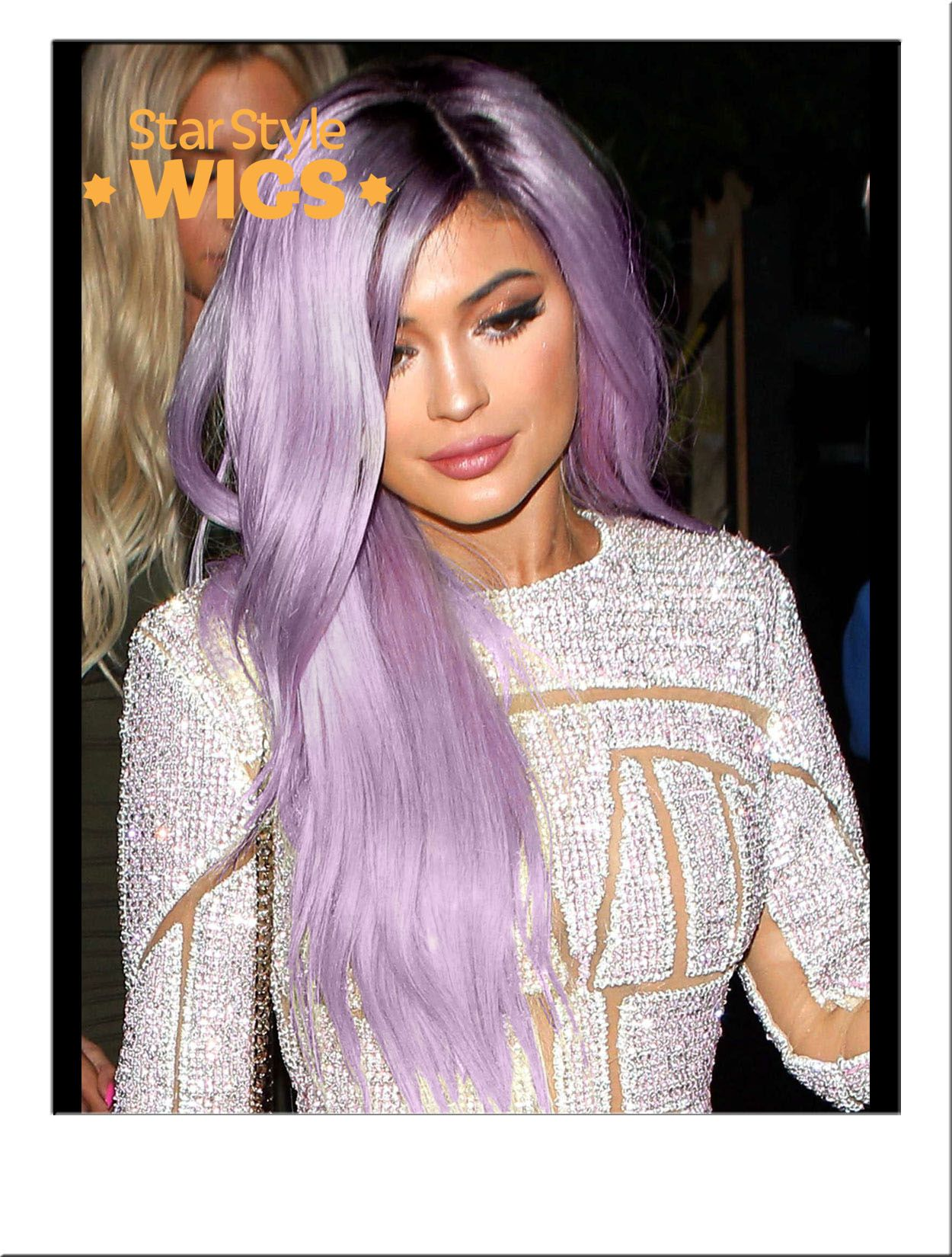 Kylie Jenner Long Silver Purple Wig Pastel Fashion Celebrity Festival Hair Wavy Hairstyle 30 Hair Color Hair Color Purple Copper Hair Color
