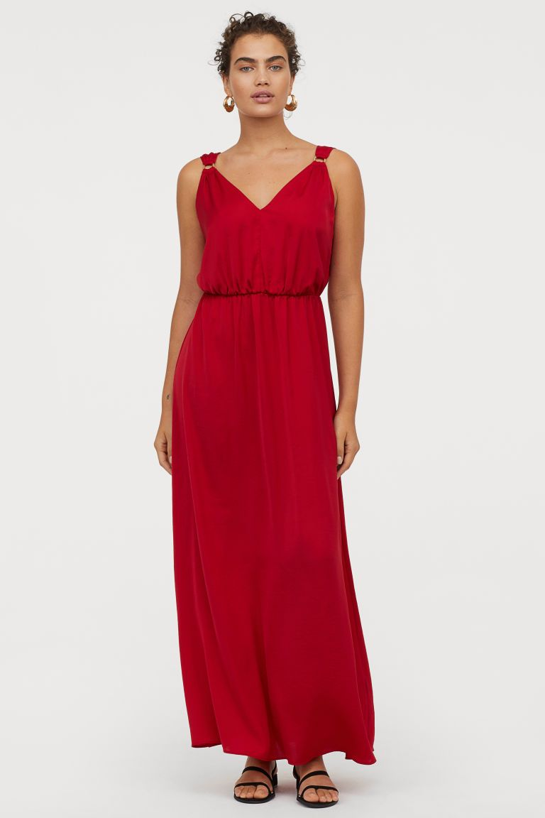 Maxi Jurk V Hals.Maxi Jurk Met V Hals In 2019 H M Dresses V Neck Dress En