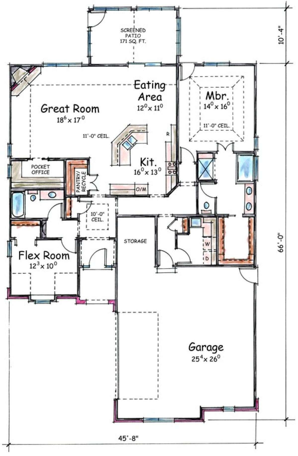 House Plan 40201373 Ranch Plan 1,789 Square Feet, 2
