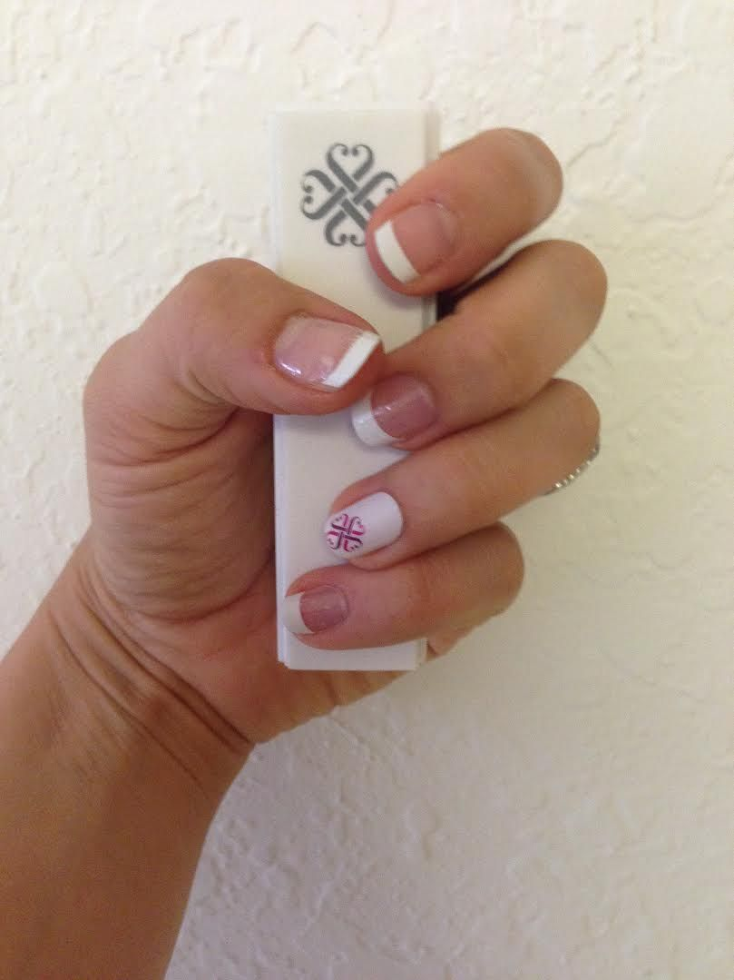 Jamberry French Tip Manicure Jamberry Nail Wraps are stickers you ...