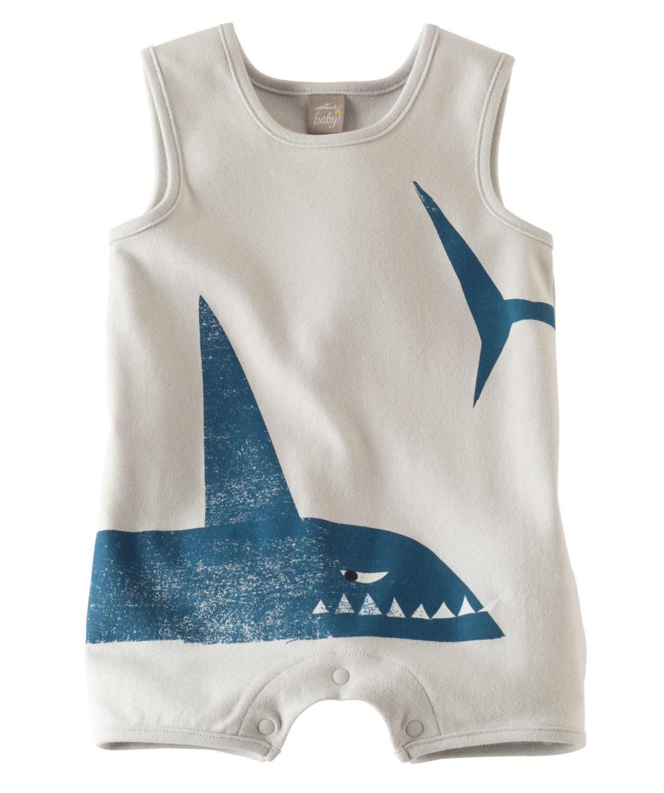 Baby Boy Shark Tank Romper Hallmark Baby Clothes