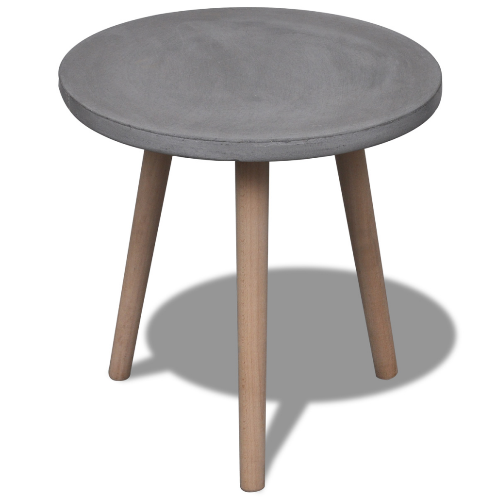Buy Best Gray Small Round Table With Concrete Top And Oak Legs From Lovdock Com Buy Affordable And Quality Coffee Tables Coffee Table Table Round Dining Table [ 1024 x 1024 Pixel ]