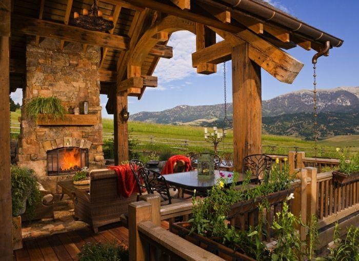 Porches r sticos 24 dise os inspiradores porches - Porches rusticos ...