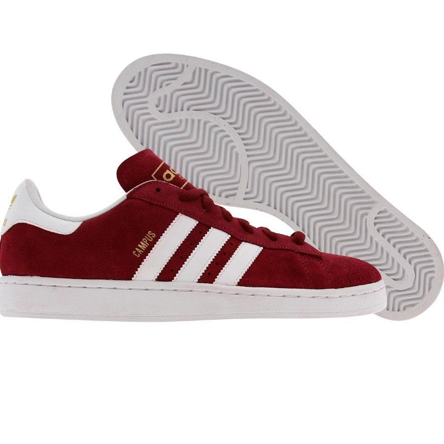 available popular stores new design Adidas Campus II (cardinal / runninwhite / metallic gold ...
