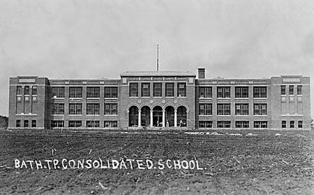 (Present day Fairborn, Ohio) - Bath Consolidated School. My mom & her  siblings graduated from here in the