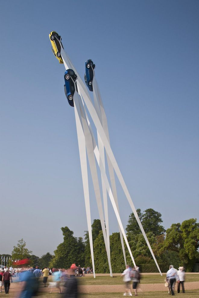 Gerry Judah installation for Porsche at 2013 Goodwood Festival of Speed