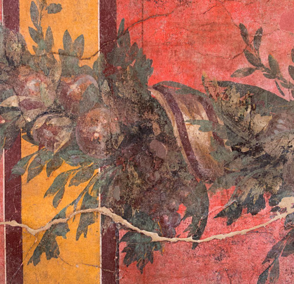 Jardín, fresco de estilo III pompeyano, Museo Archeologico