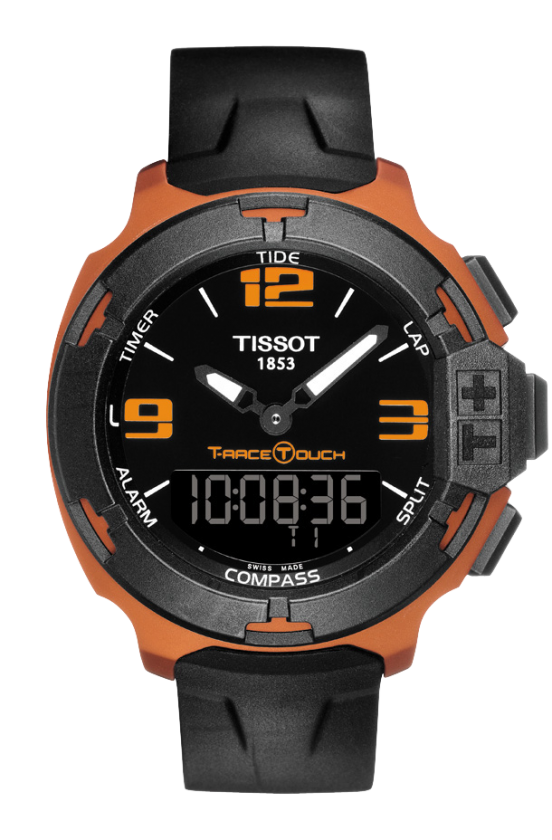 T081 420 97 057 03 Black Dial Aluminum Black Rubber Tang Buckle Watch Tissot T Race Tissot Mens Watch T Race