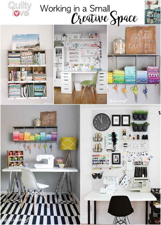 Quilting (and working) in a small space | Small spaces