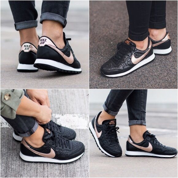 buy popular 19b7f 64fcf Nike Shoes - Nike Air Pegasus Black + Rose Gold Sneakers