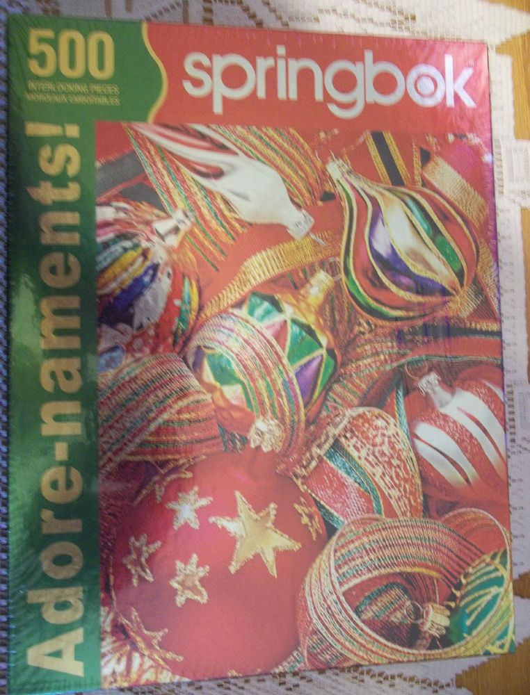 Details about Springbok Adore-naments! 500 Pieces Jigsaw