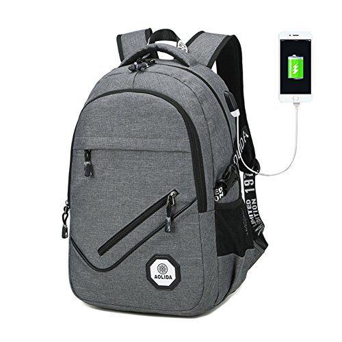 Sac à Dos Ordinateur Portable avec USB Ports, Sac a Dos Compartiment PC  Portable 15.6 7a14b3926eaf