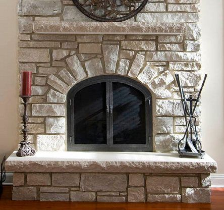 Arched Stone Fireplace Yahoo Image Search Results Limestone