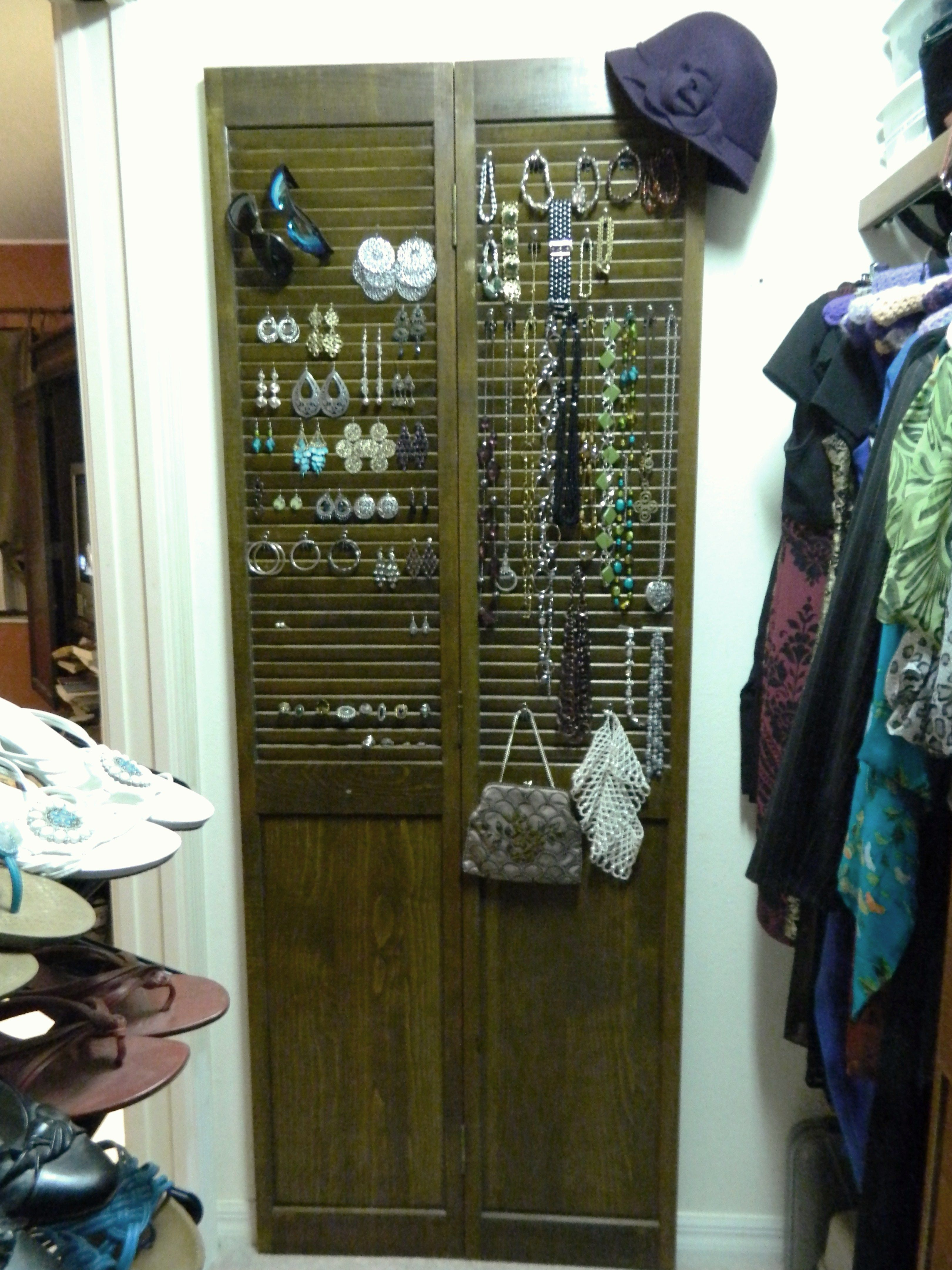 Repurpose Old Bi Fold Doors Into A Jewelry Organizer