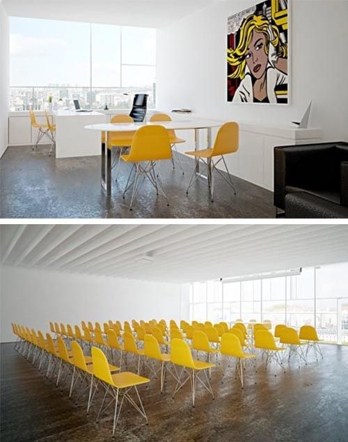 Stelmat Teleinformatica Office Building By About:Blank Architecture. Touch  Of Yellow