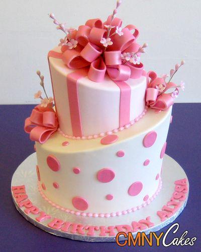 Happy Birthday Terri Elegant Cake And Flowers Images