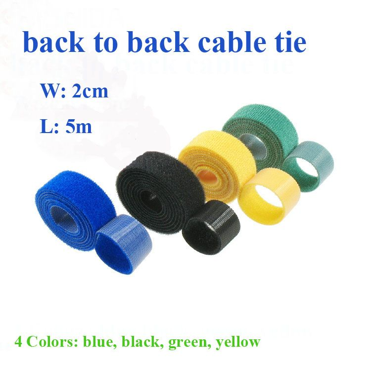 4Colors 2cm*5M Hot Nylon Reusable Cable Ties Self-gripping Strap ...