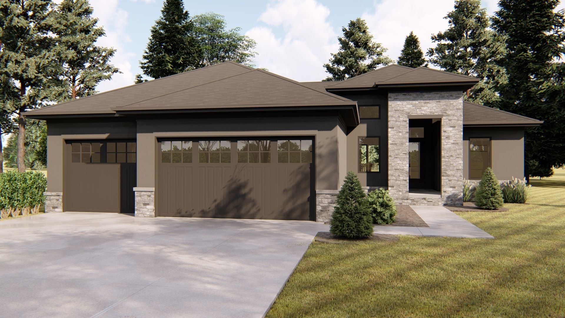 1 Story Mediterranean House Plan | Cleveland | | new home | in ...