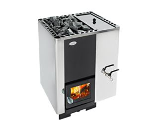 Helo 20 PK VO -puukiuas Helolta http://www.helo.fi/tuotteet/sauna/woodfire-heaters/helo-20-pk-vo/