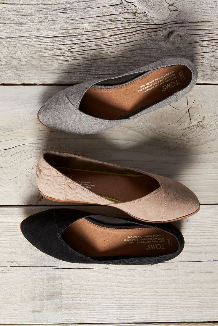 4bfac11c1e77da Embossed, suede or chambray. Slip on some comfortable TOMS Jutti Flats.