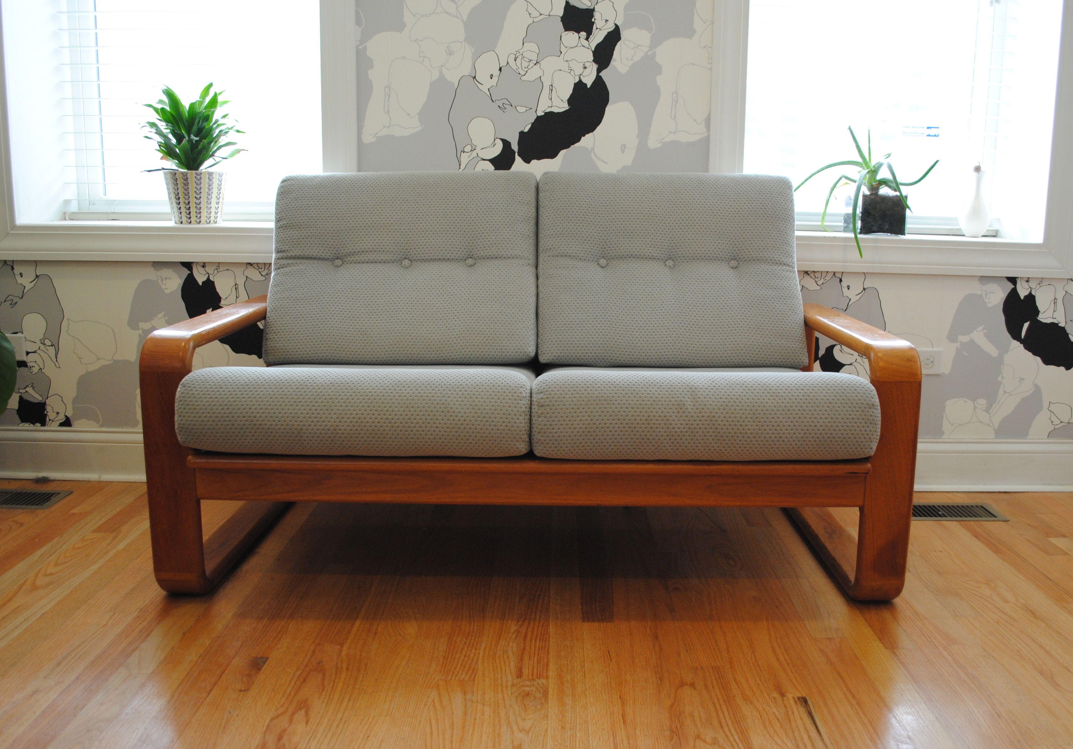 Danish Modern Teak Sofa Loveseat Scandinavian Furniture Danish Modern Sofa Teak Sofa