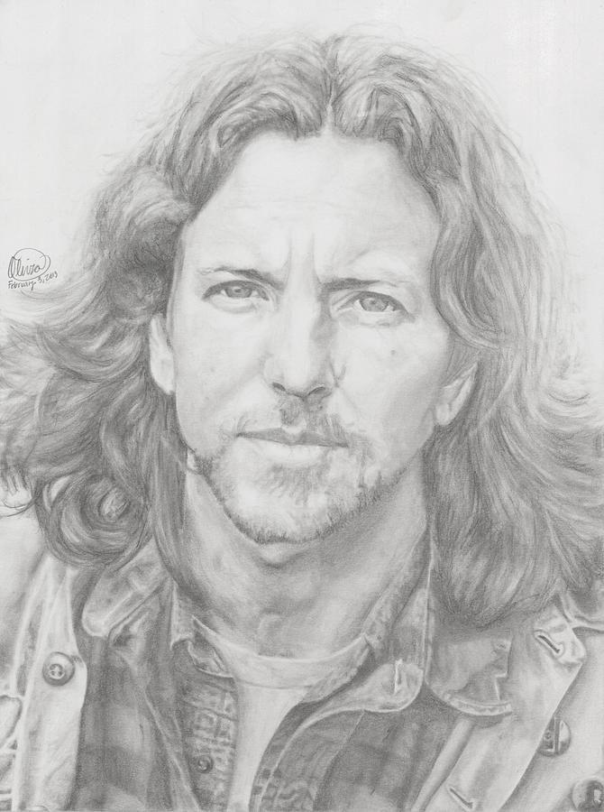 Eddie Vedder Drawing Eddie Vedder By Olivia Schiermeyer Eddie Vedder Portrait Musician Artwork