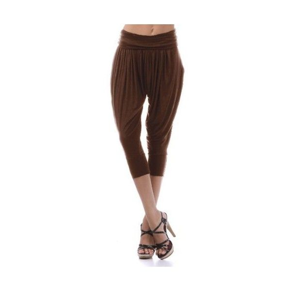 Womens Urban Black Harem Casual Evening All Occasion Cropped Pants ($15) ❤ liked on Polyvore