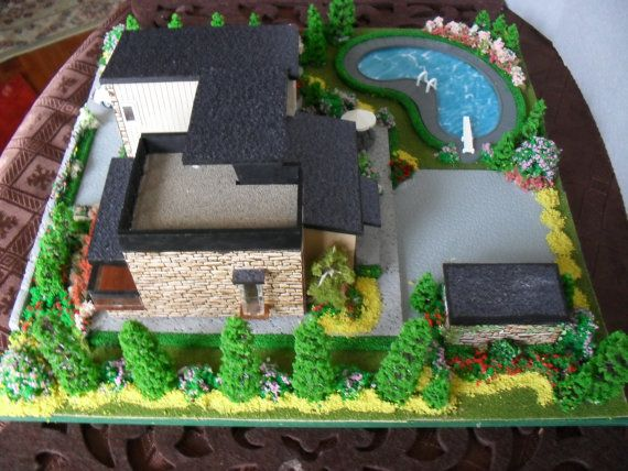 Modern house scale model