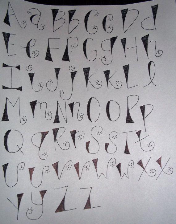 Romana Moderna Abecedario Lettering Estilos De Letras Y Letras
