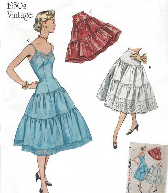 1950s Womens Vintage Petticoats and Slip Rockabilly Petticoats ...