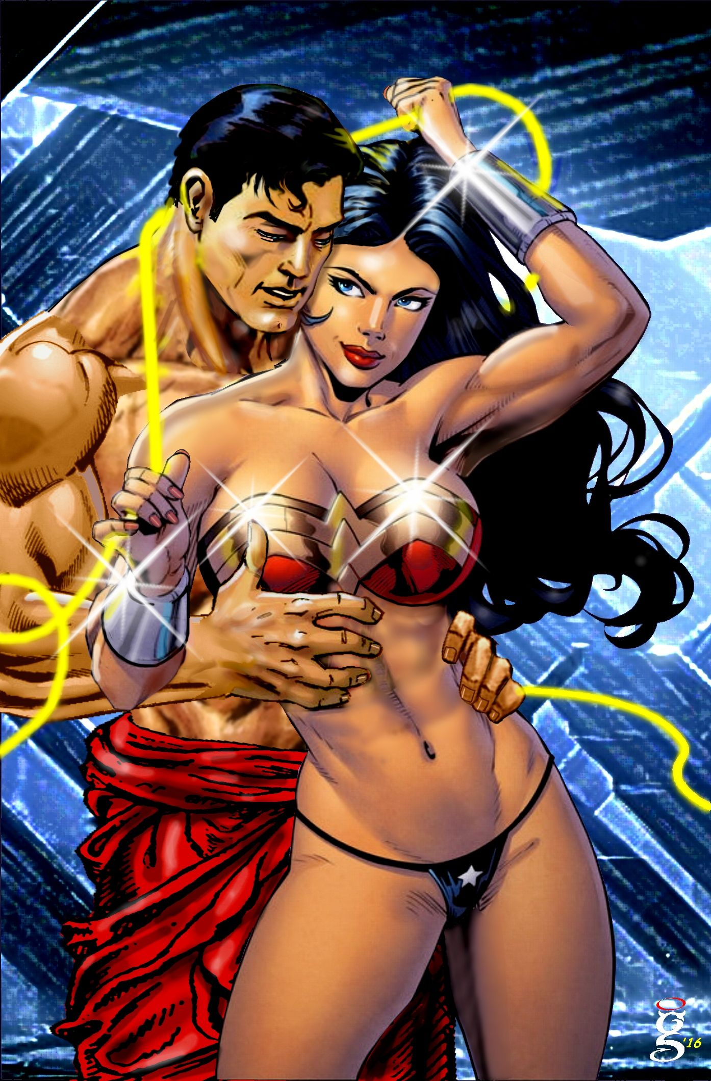 Superman and wonder woman sex