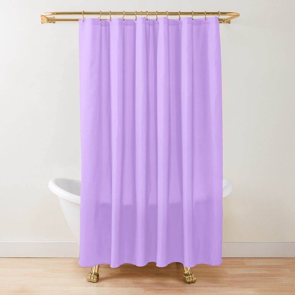 Pastel Purple Shower Curtain By Menche96 Pink Shower Curtains