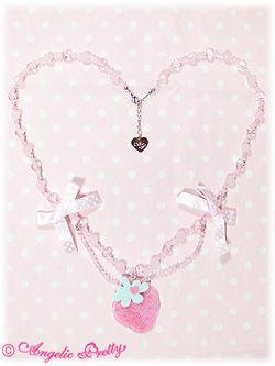 Strawberry-chan Polka Dot Necklace