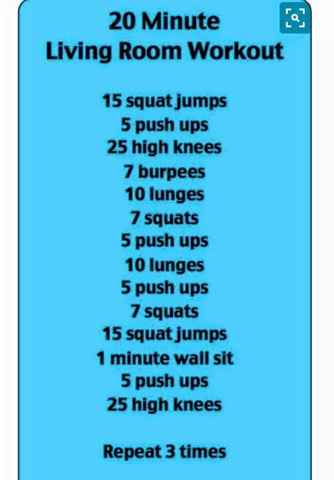 20 Minute Living Room Workout | Exercises | Pinterest | Living ...