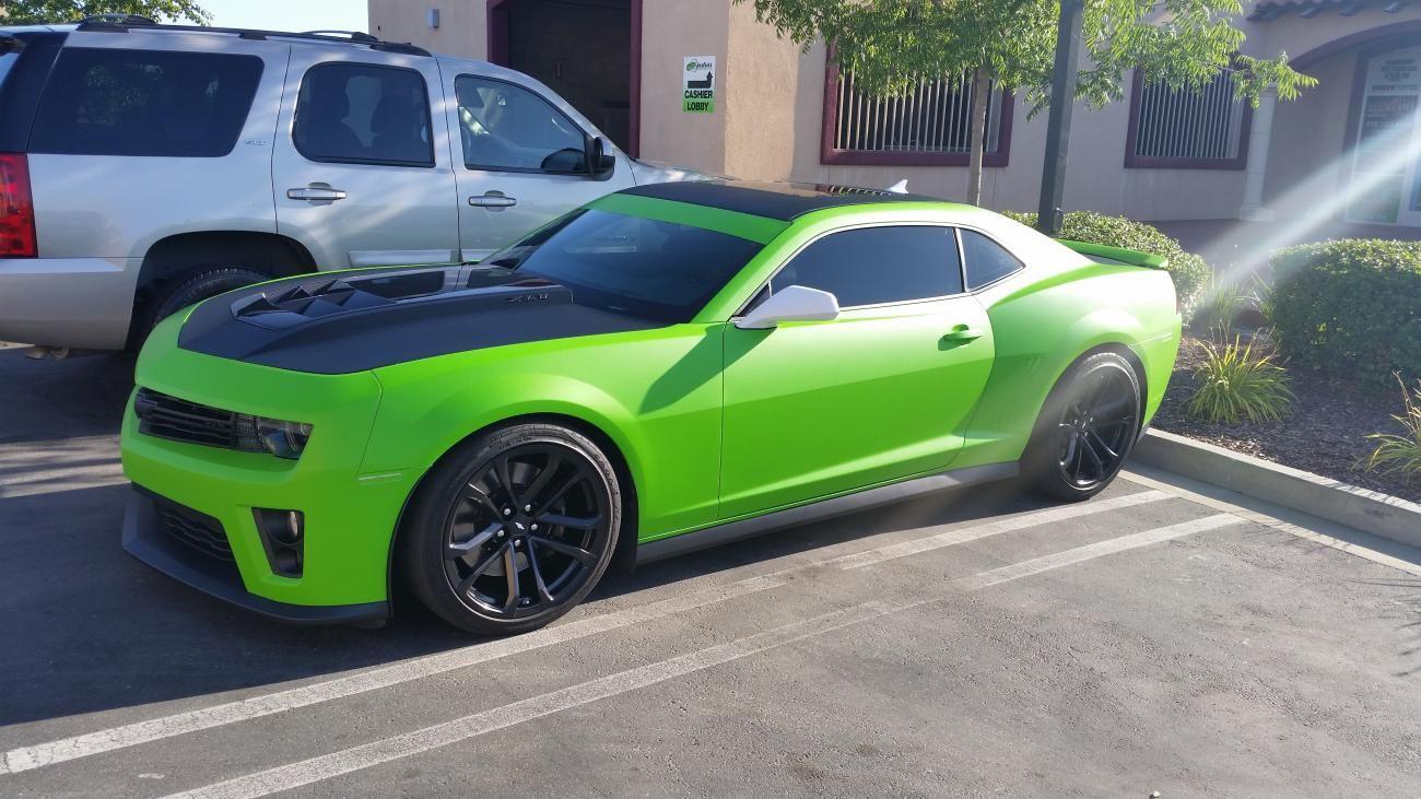 Matte Lime Green Camaro