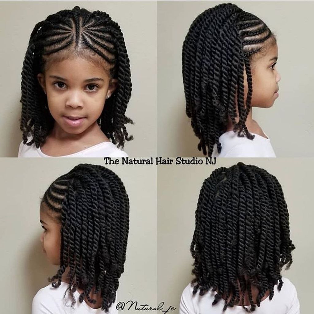 20 Fabulous Natural Black Hairstyle Ideas For Curly Little Girls Hair Twist Styles Natural Hair Styles Natural Hairstyles For Kids