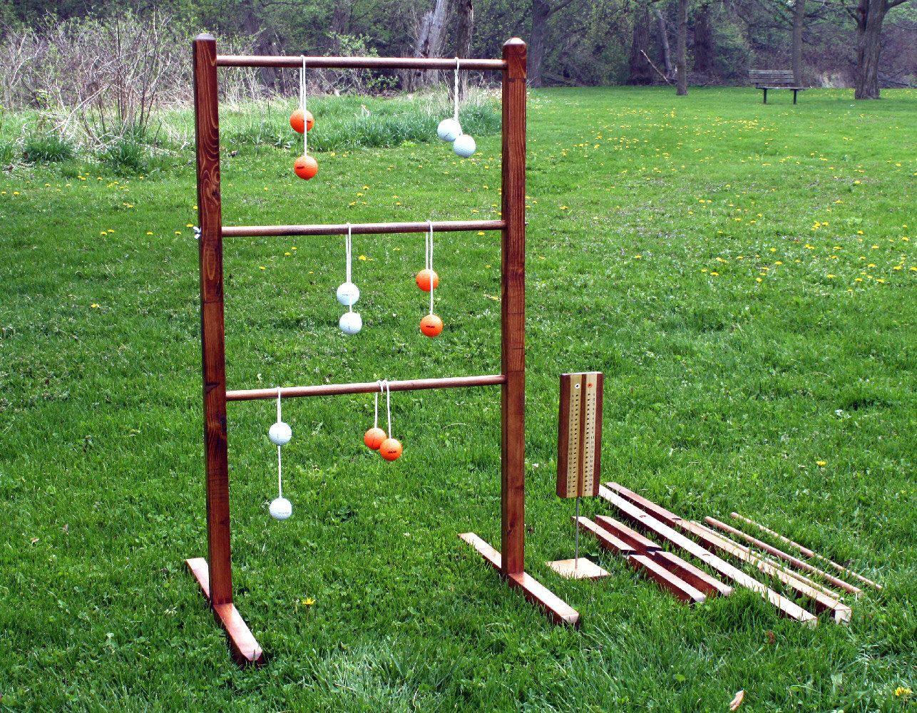 One For Adults /& Kids Backyard Beach Lawn Outdoor Ladder Toss Ball Game Set