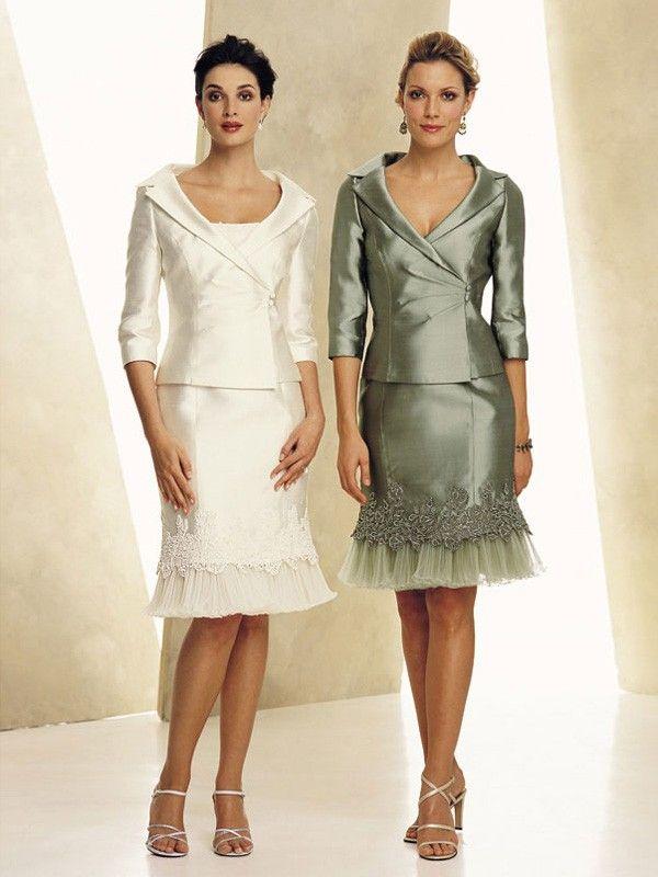 Beformal.com.au SUPPLIES Charming Sheath/Column V-neck Knee-Length  Mother of the Bride Dress Tea Length Mother of the Bride Dresses