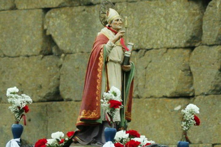Imagen de San Blas que se venera en el Monasterio de la Caridad, Ciudad Rodrigo